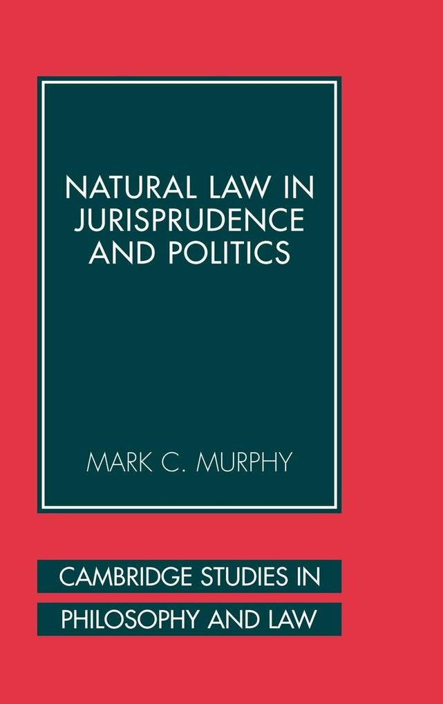 Natural Law in Jurisprudence and Politics als Buch
