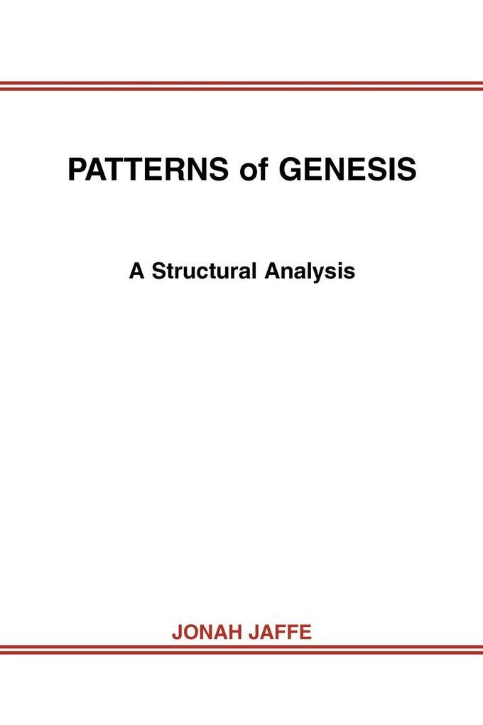Patterns of Genesis: A Structural Analysis als Taschenbuch