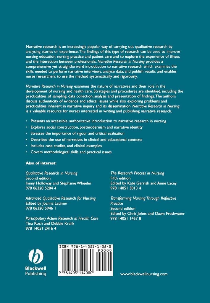 Narrative Research Nursing als Taschenbuch