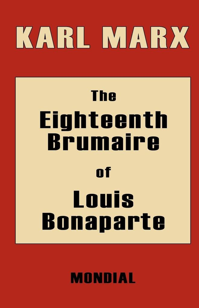 The Eighteenth Brumaire of Louis Bonaparte als Taschenbuch