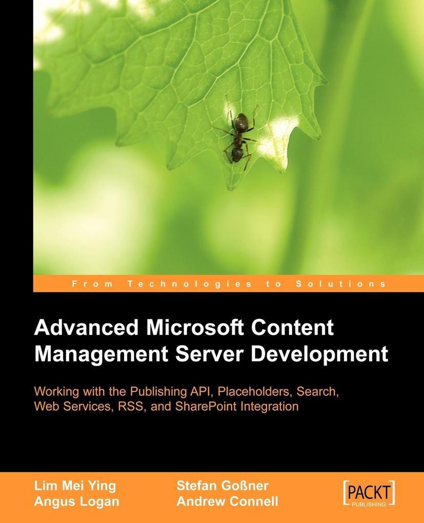 Advanced Microsoft Content Management Server Development als Taschenbuch