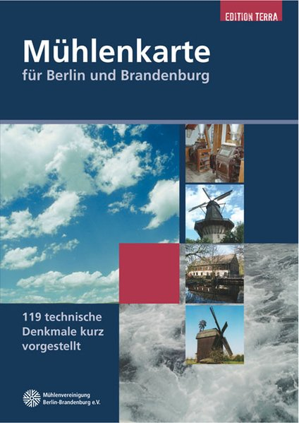 Mühlenkarte für Berlin und Brandenburg als Buch
