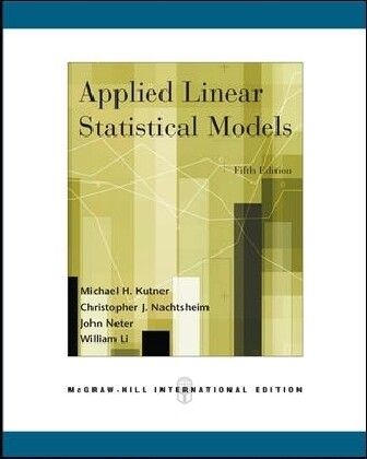 Applied Linear Statistical Models (Int'l Ed) als Buch