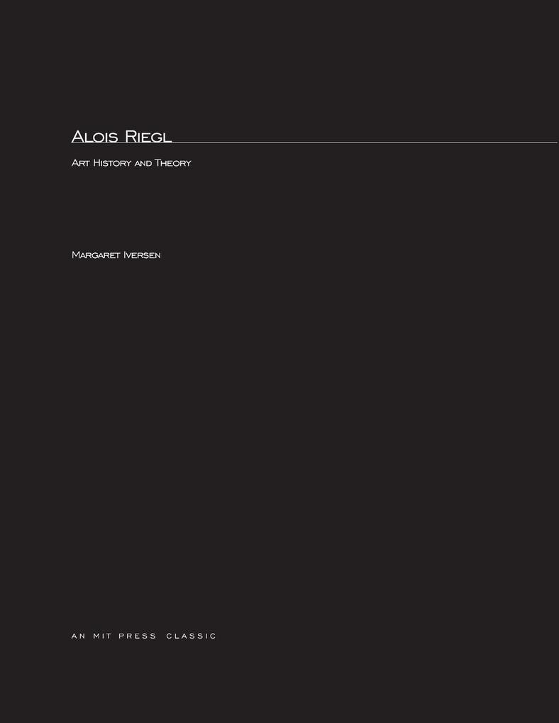 Alois Riegel als Taschenbuch