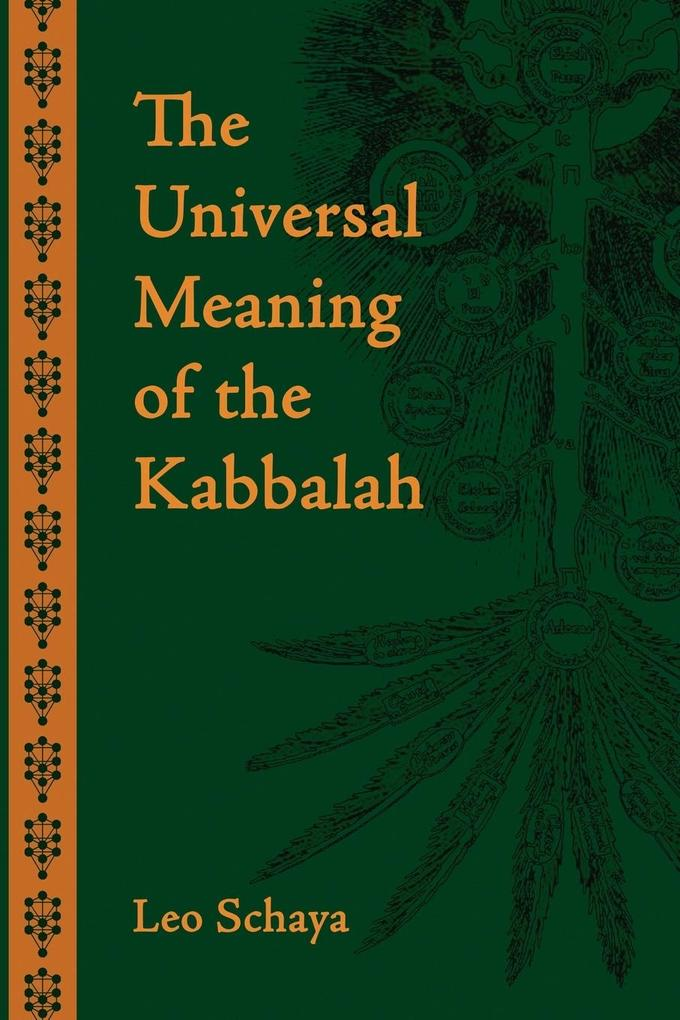 The Universal Meaning of the Kabbalah als Buch