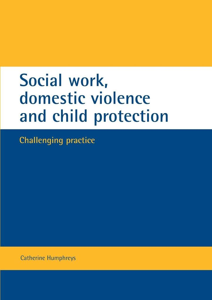Social work, domestic violence and child protection als Taschenbuch
