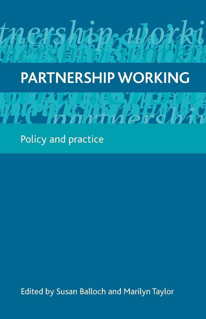 Partnership working als Taschenbuch
