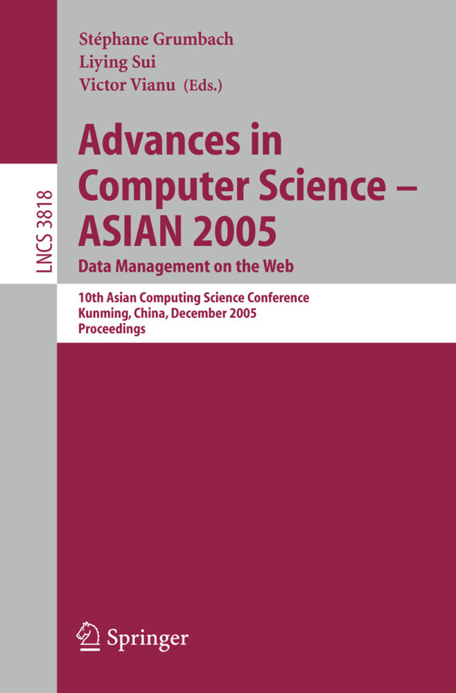 Advances in Computer Science - ASIAN 2005. Data Management on the Web als Buch
