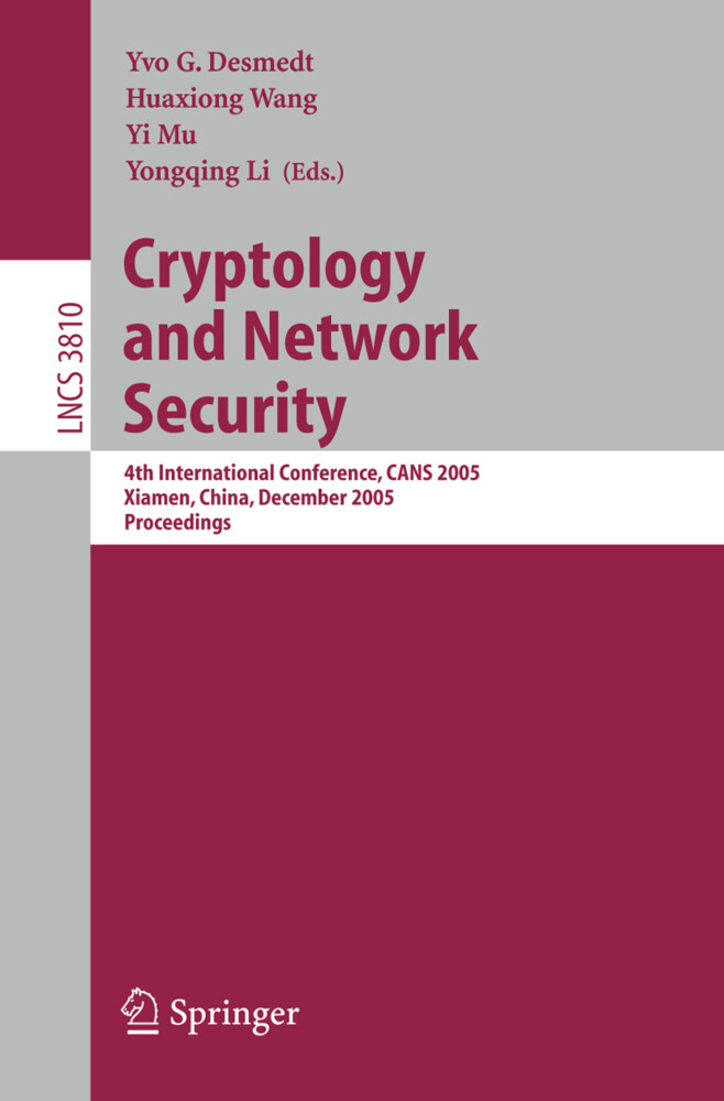 Cryptology and Network Security als Buch