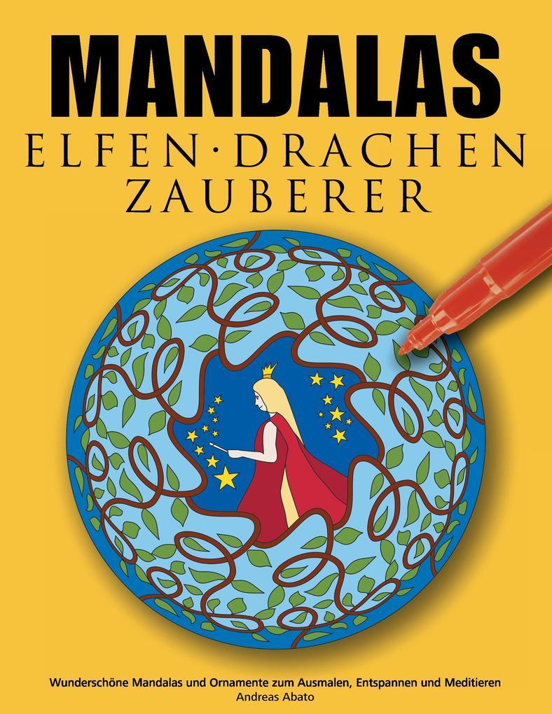 Mandalas Elfen Drachen Zauberer als Buch
