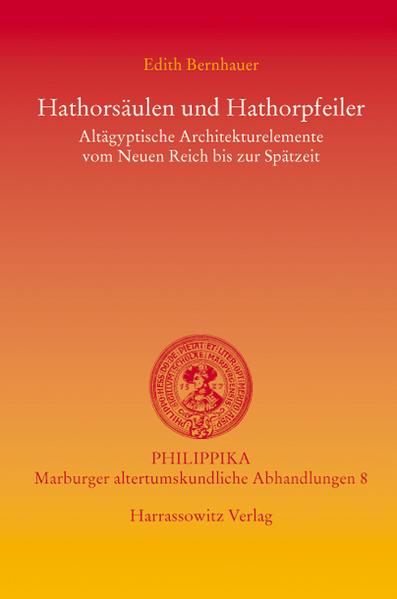 Hathorsäulen und Hathorpfeiler als Buch