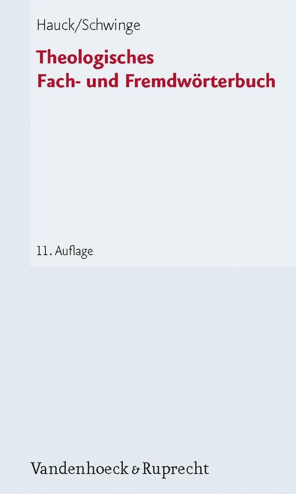 Theologisches Fach- und Fremdwörterbuch als Taschenbuch