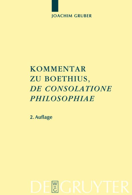Kommentar zu Boethius' De consolatione philosophiae als Buch