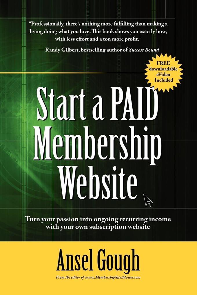Start A Paid Membership Site als Taschenbuch