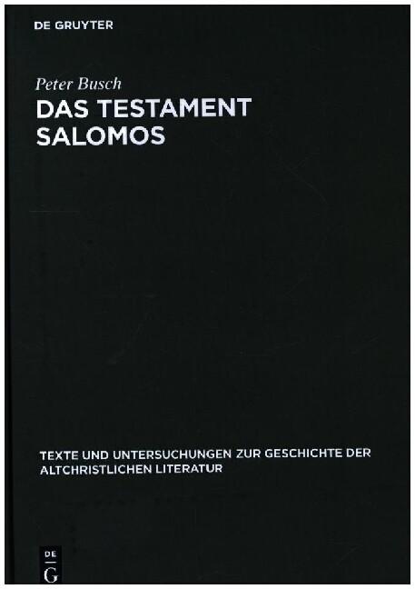 Das Testament Salomos als Buch