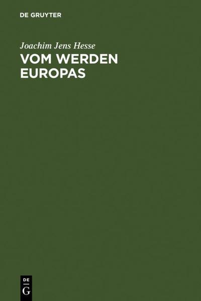 Vom Werden Europas als Buch