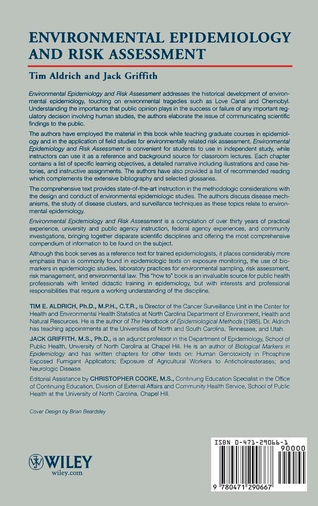 Environmental Epidemiology and Risk Assessment als Buch