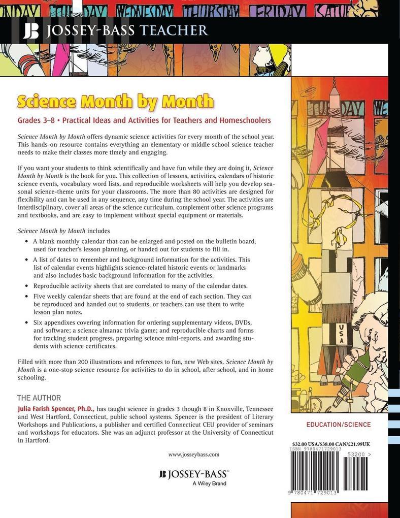 Science Month by Month, Grades 3-8 als Taschenbuch