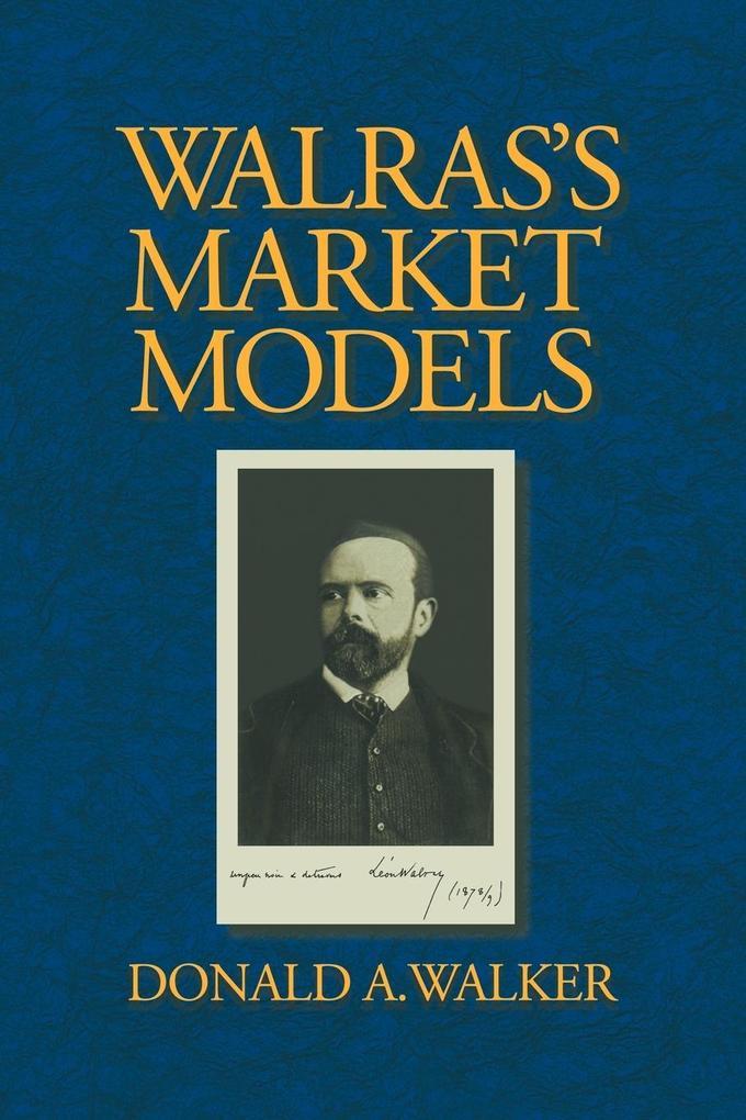 Walras's Market Models als Buch