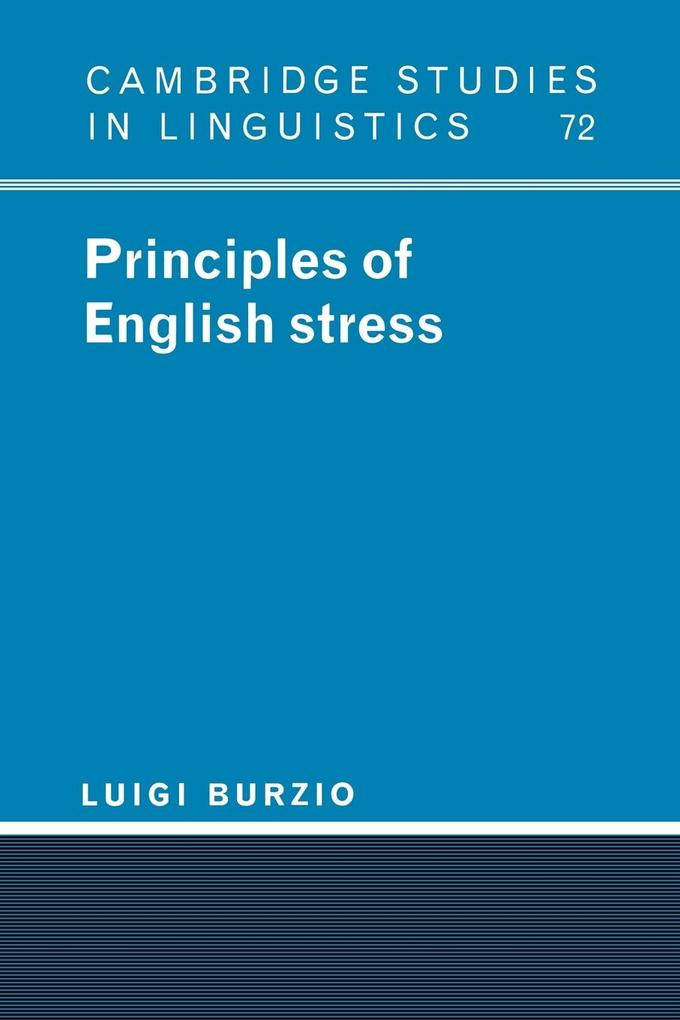 Principles of English Stress als Buch