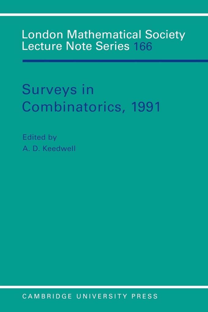 Surveys in Combinatorics, 1991 als Buch
