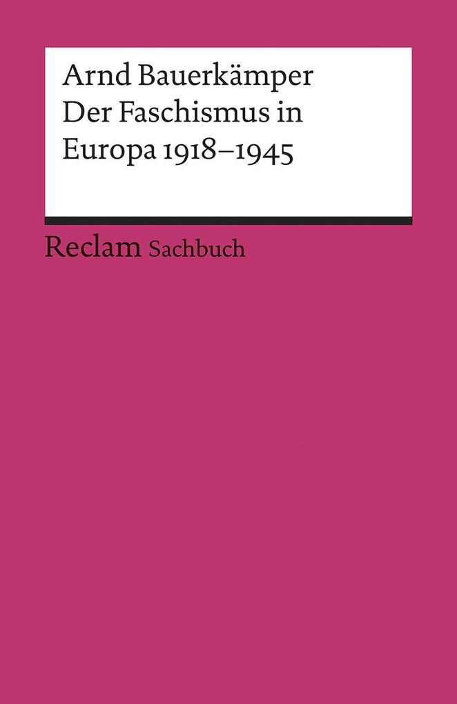 Der Faschismus in Europa 1918-1945 als Taschenbuch