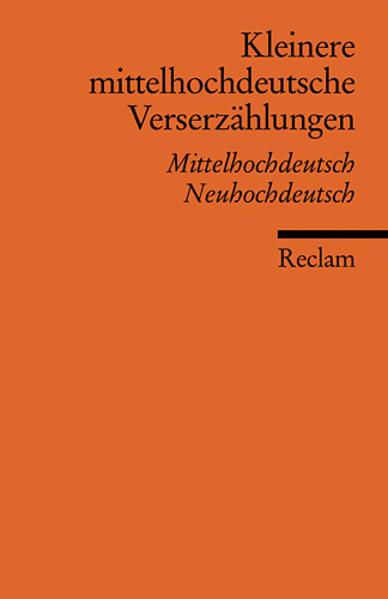 Kleinere mittelhochdeutsche Verserzählungen als Taschenbuch