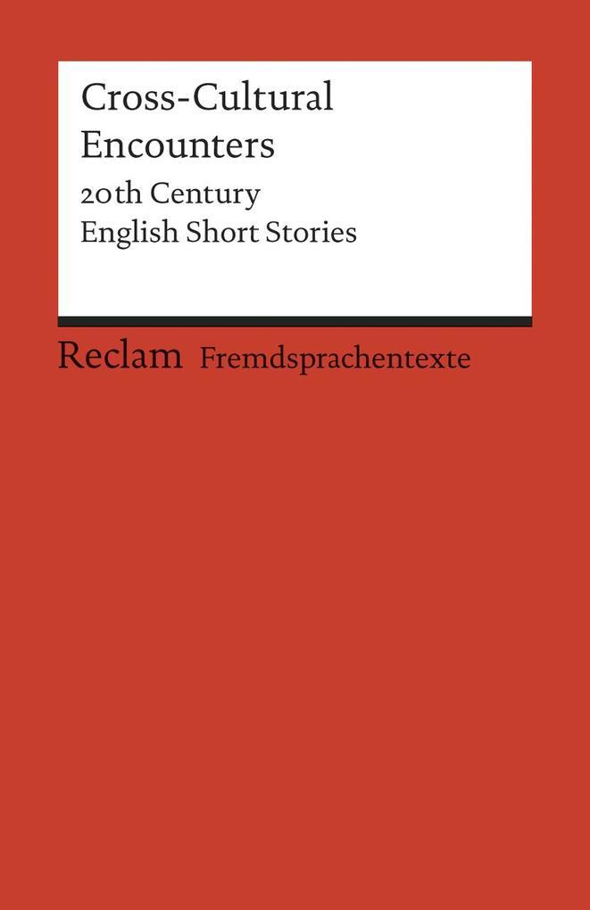 Cross-Cultural Encounters als Taschenbuch