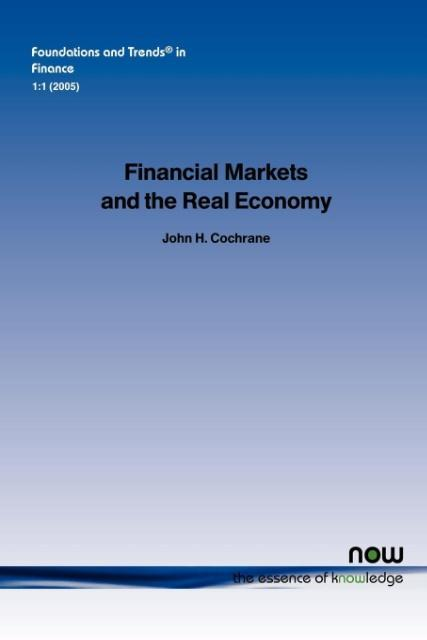 Financial Markets and the Real Economy als Taschenbuch