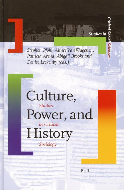 Culture, Power, and History: Studies in Critical Sociology als Buch