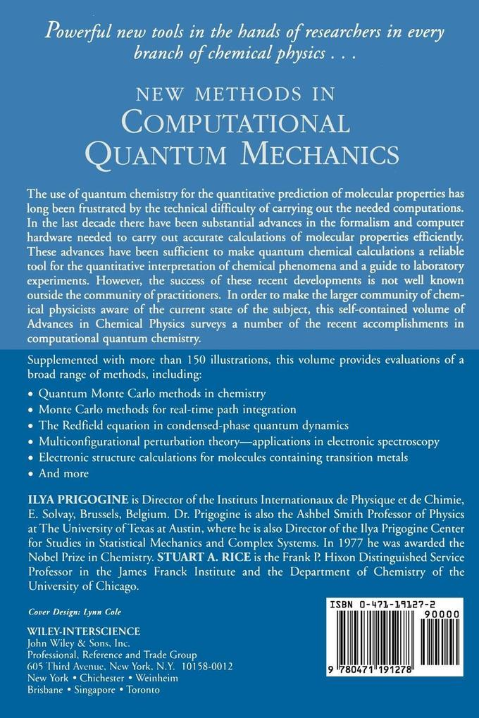 Advances Chem Physics V 93 P als Taschenbuch
