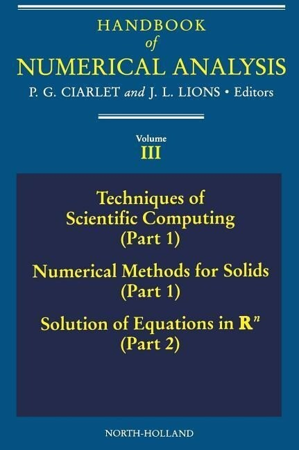 Techniques of Scientific Computing (Part 1) - Solutions of Equati als Buch