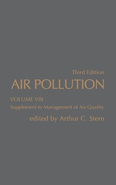 Air Pollution: Supplement to Management Air Quality als Buch