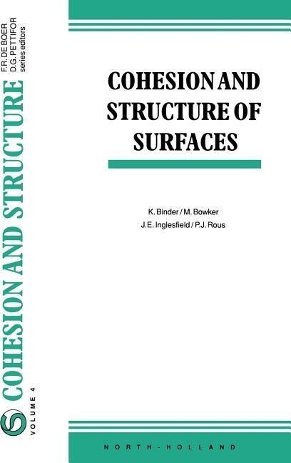 Cohesion and Structure of Surfaces als Buch