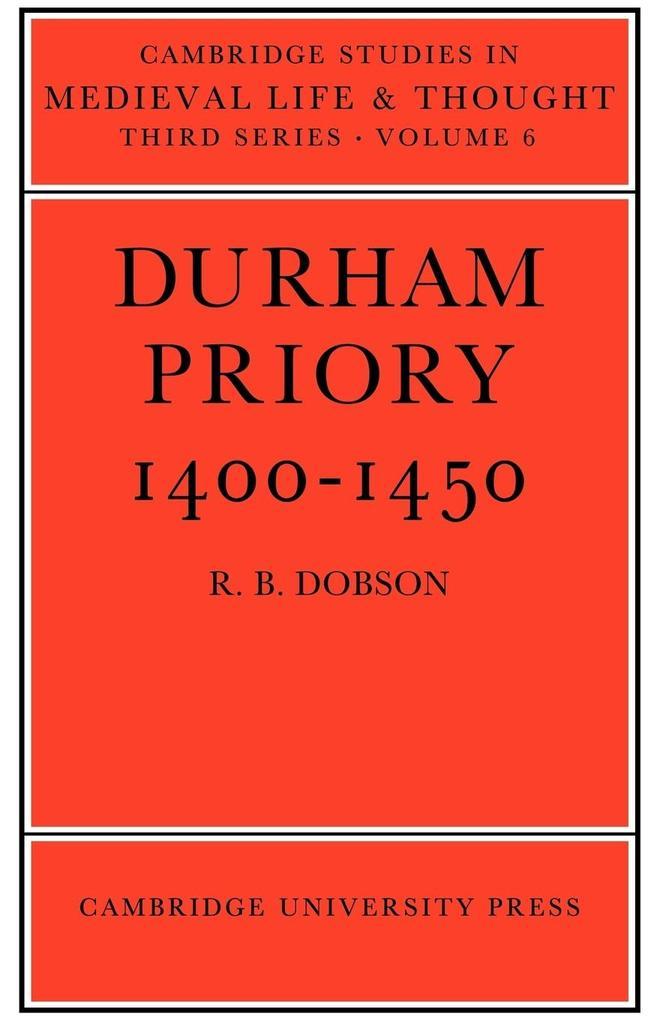 Durham Priory 1400 1450 als Taschenbuch