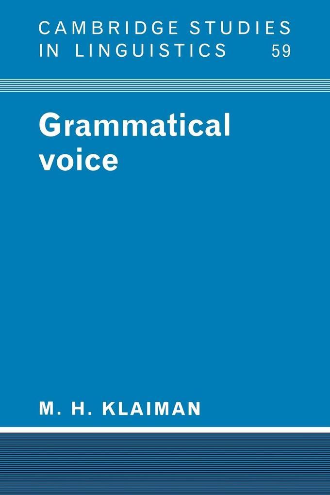 Grammatical Voice als Buch