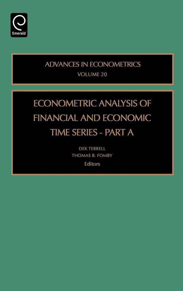 Econometric Analysis of Financial and Economic Time Series als Buch