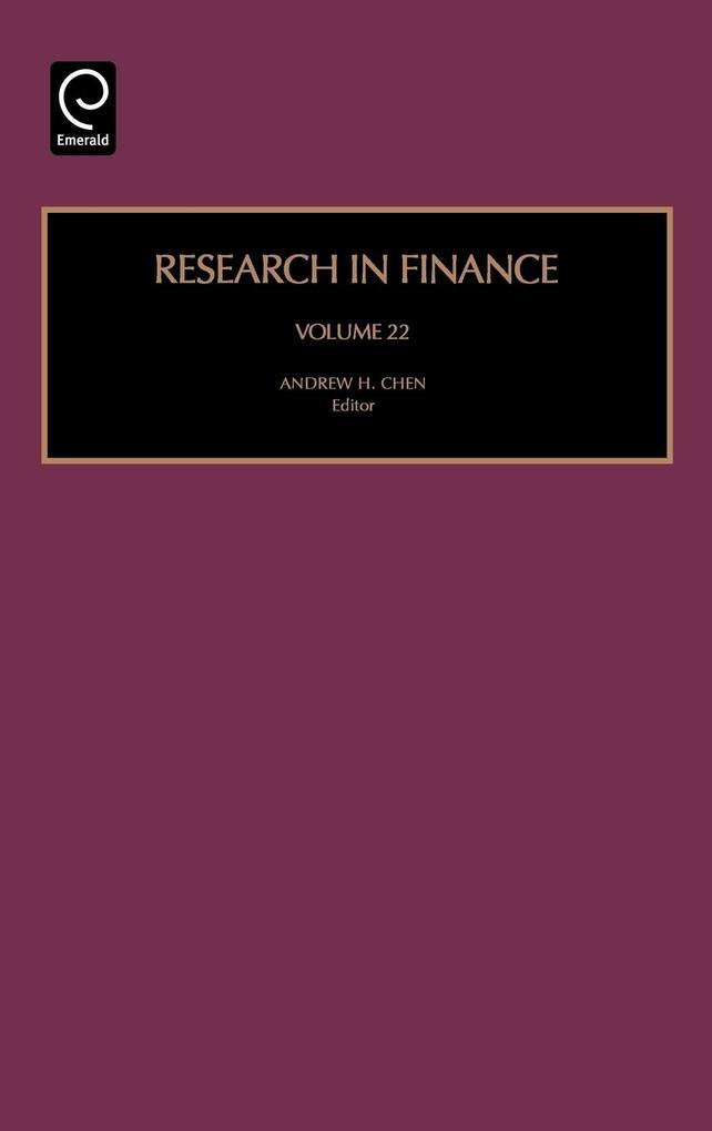 Research in Finance als Buch