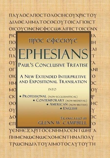 Ephesians: Paul's Conclusive Treatise als Buch