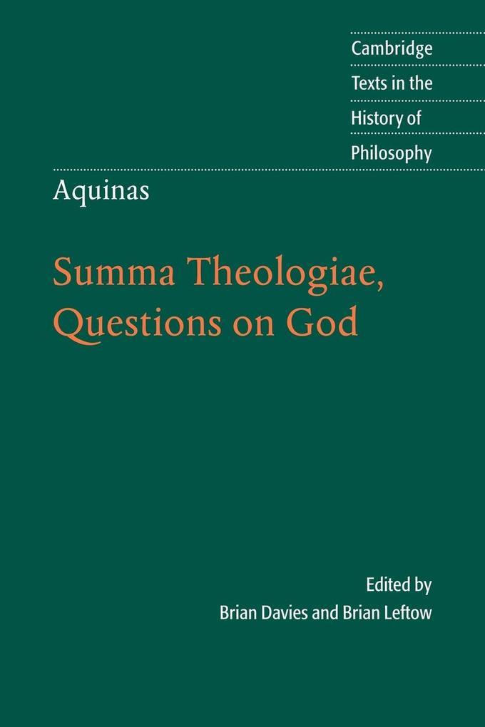 Aquinas: Summa Theologiae, Questions on God als Buch