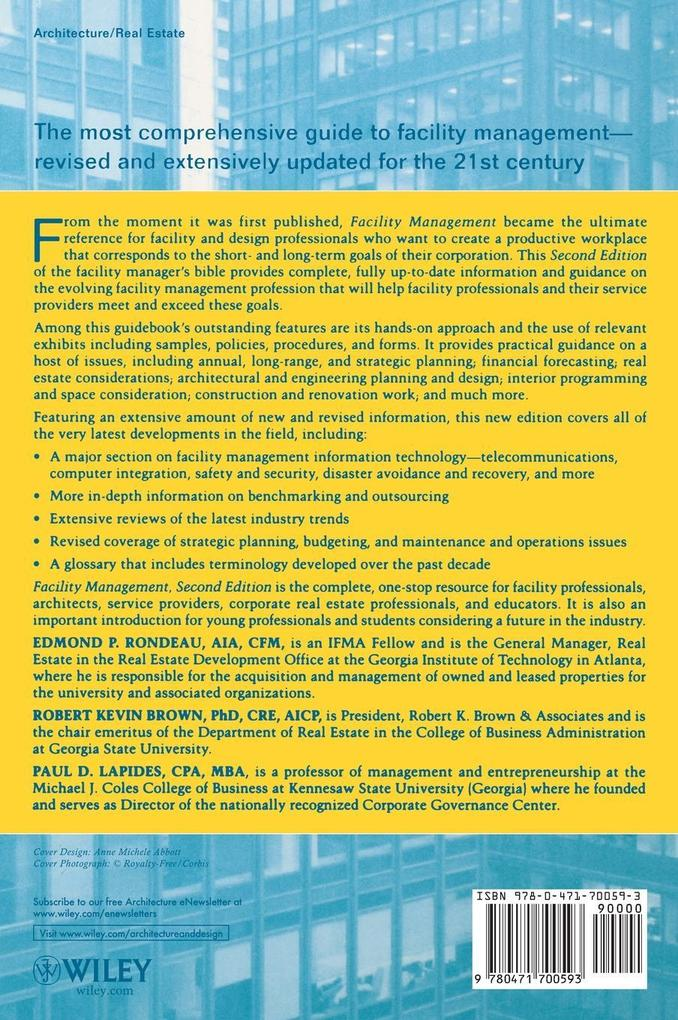 Facility Management 2E als Buch