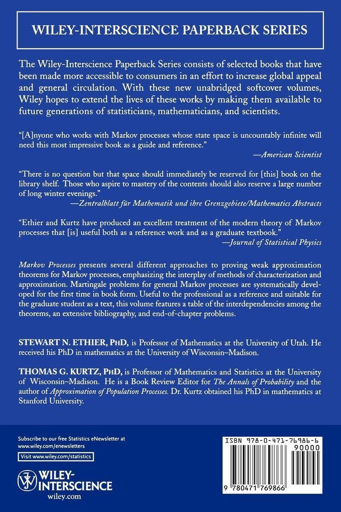 Markov Processes P als Buch