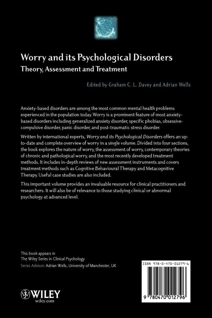 Worry and its Psychological Disorders als Buch