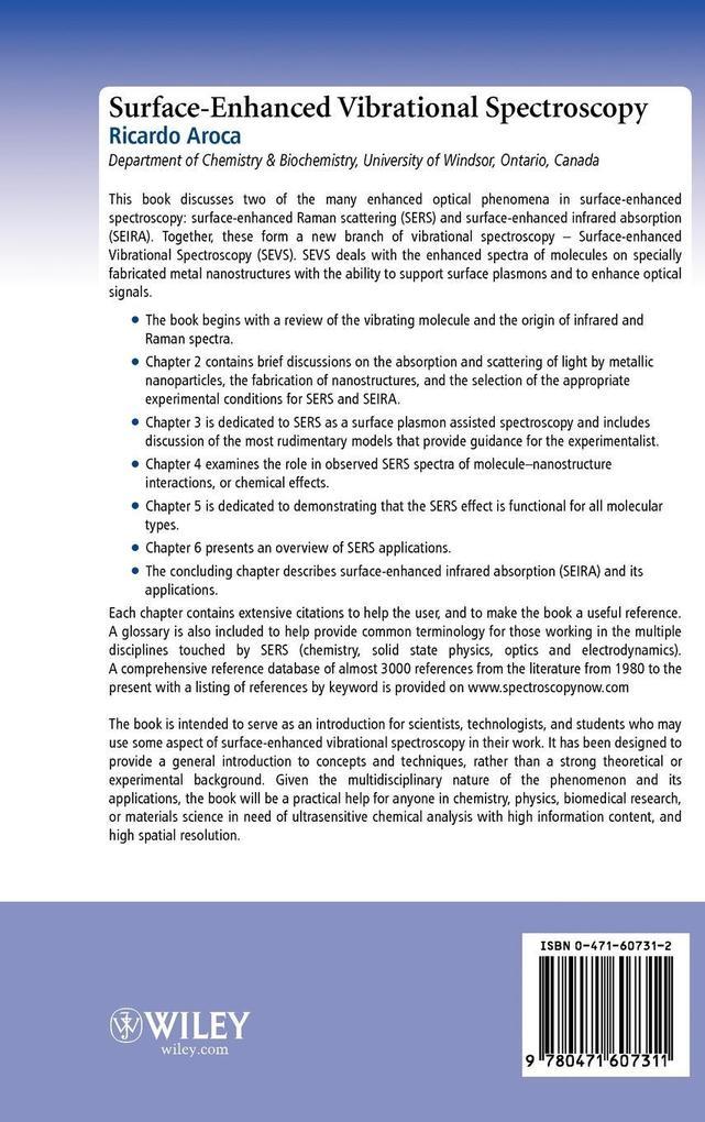 Surface-Enhanced Vibrational Spectroscop als Buch