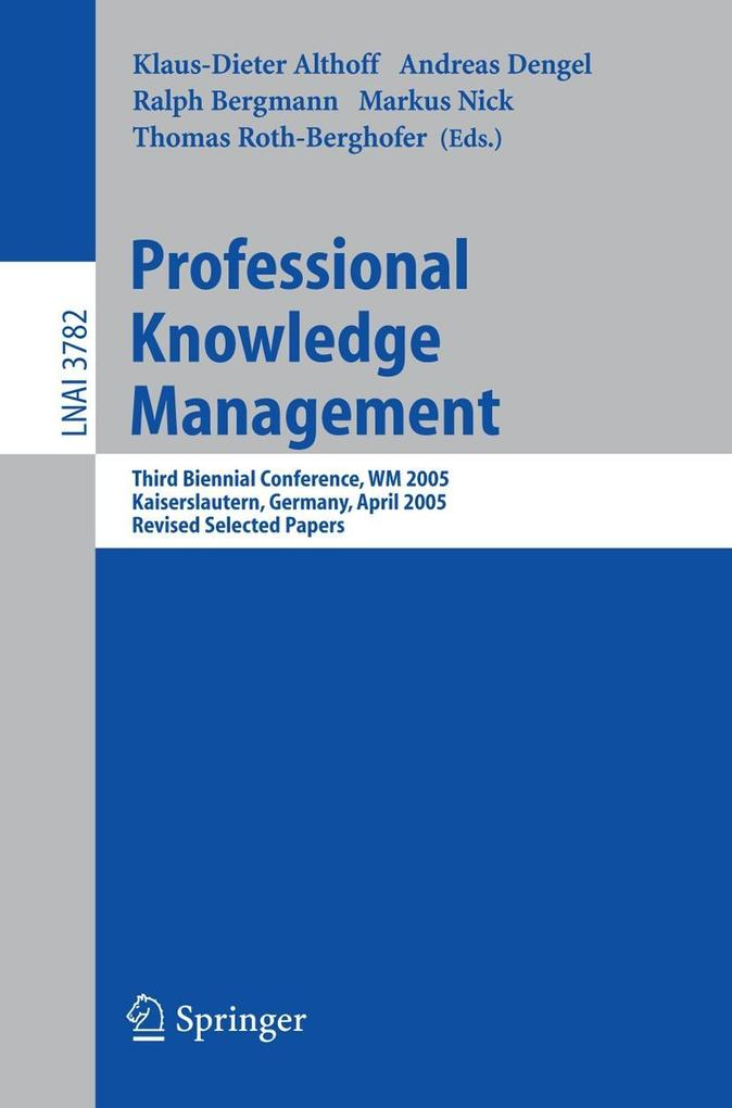 Professional Knowledge Management als Buch