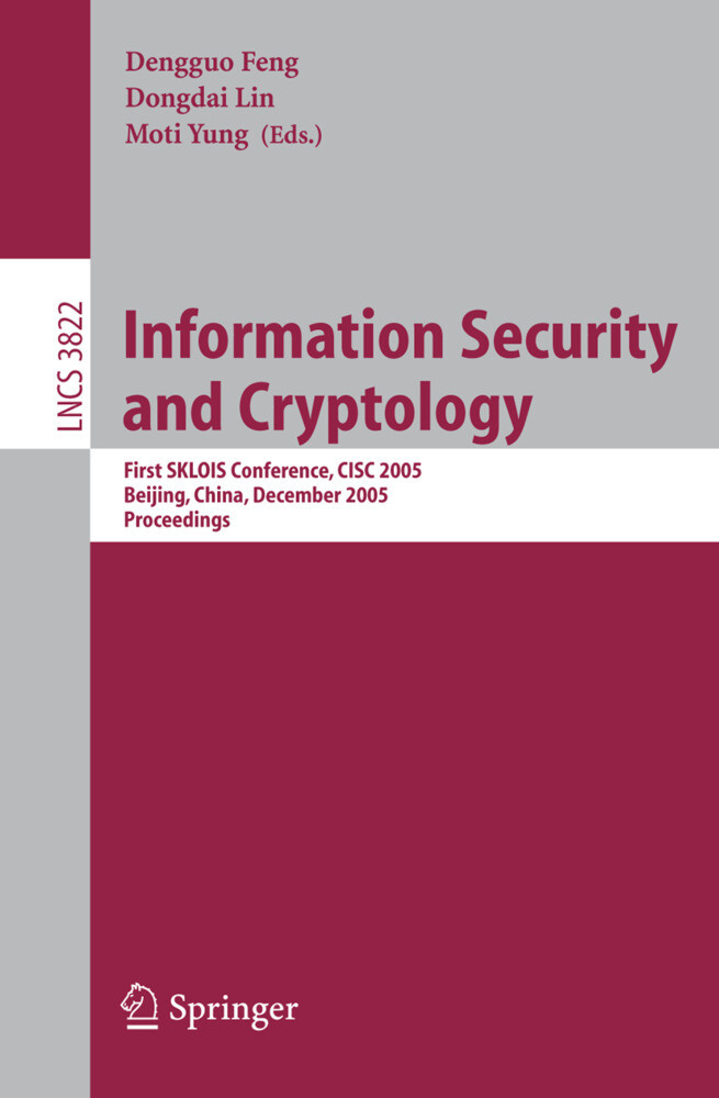 Information Security and Cryptology als Buch