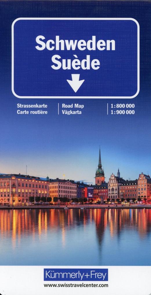 KuF Schweden 1 : 800 000 / 1 : 900 000 Strassenkarte als Buch