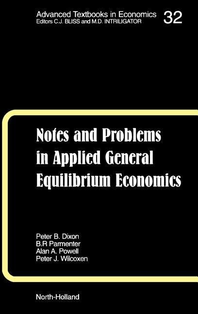 Notes and Problems in Applied General Equilibrium Economics als Buch