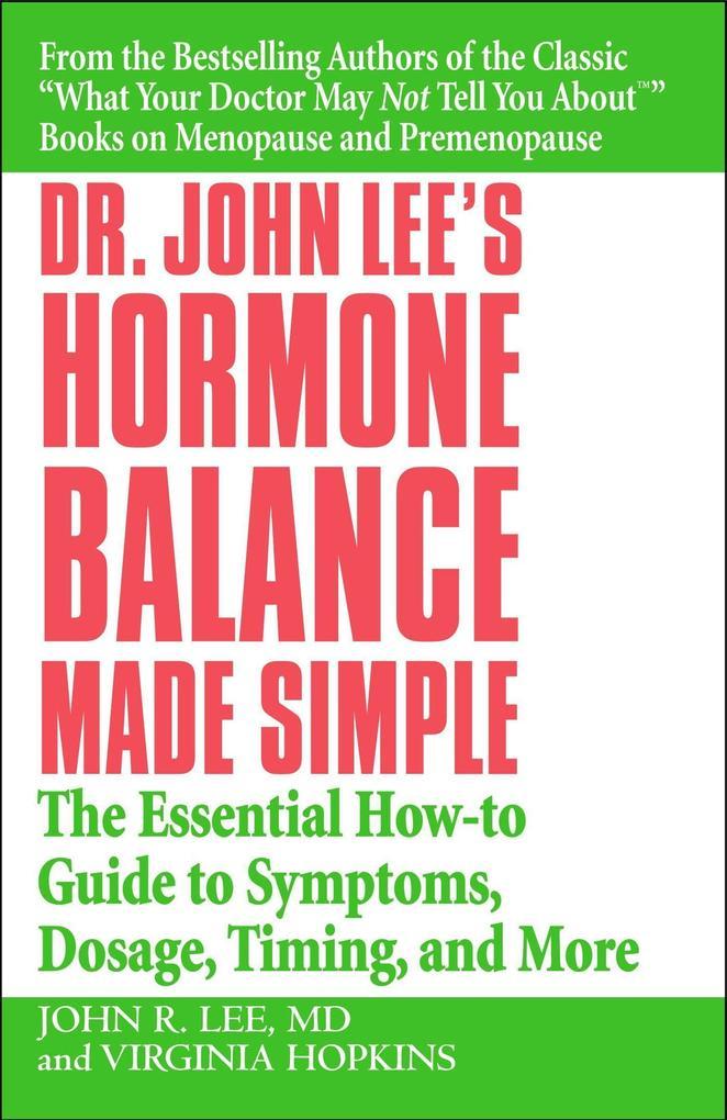 Dr John Lee's Hormone Balance Made Simple als Taschenbuch