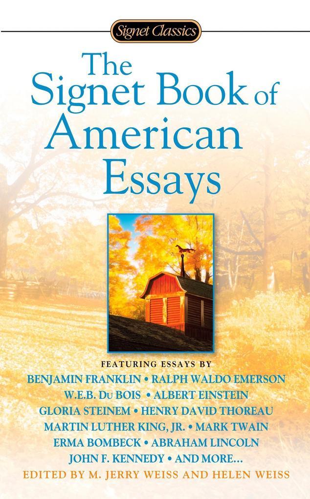 The Signet Book of American Essays als Taschenbuch